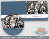 Mini Chevron Masculine digital CD and CD cases templates (single and double)