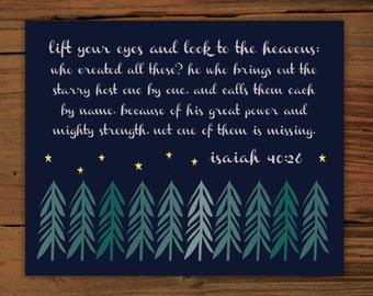 Isaiah 40:26 Print