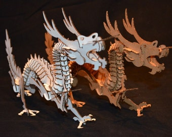 3D Dragon Puzzle ///NOW IN WHITE///