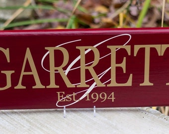 Custom Last Name Sign, Personalized Family Name Wood Sign with Initial. Perfect Wedding Gift, Bridal Shower or Anniversary