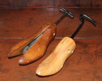 Vintage Wood and Cast Shoe Stretcher Shoe Form
