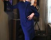 Reserved for GENNY 1960s Vintage Mod 2 Piece Wool Top & Skirt Set