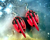 Cosmic tribe earrings with howlite spikes