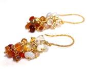 Ombre Opal Earrings Opal Jewelry Mexican Opal Lambina Opal Australian Opal Lightning Juniper Ridge Ethiopian Gold Vermeil Dangle Earrings