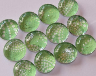 SALE Glass marble magnets