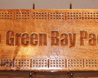 Personalized Quarter Sawn Oak Cribbage Board
