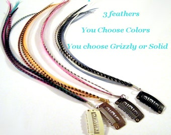 Custom Hair Feather Extension Clip In you choose your colors
