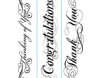THANK YoU - THINKING of YoU- CONGRATULATIONS- 3 pc. EMBOSSINg  Folder Set - NeW - Ships Now