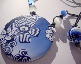 Marinera pendant  polymer clay,  MADE TO ORDER