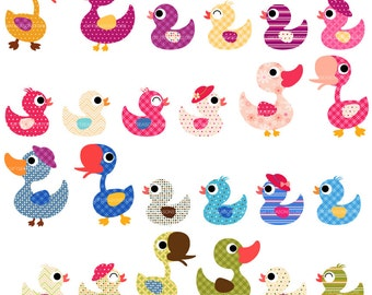 Duck family Digital clip art for Personal and Commercial use - INSTANT DOWNLOAD