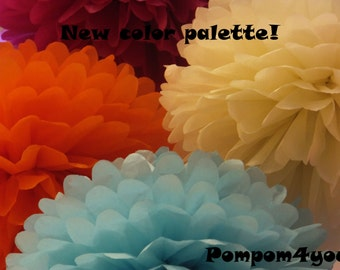 50 Tissue Paper Pom Poms and 20 FREE Small Tissue Paper Pom Poms