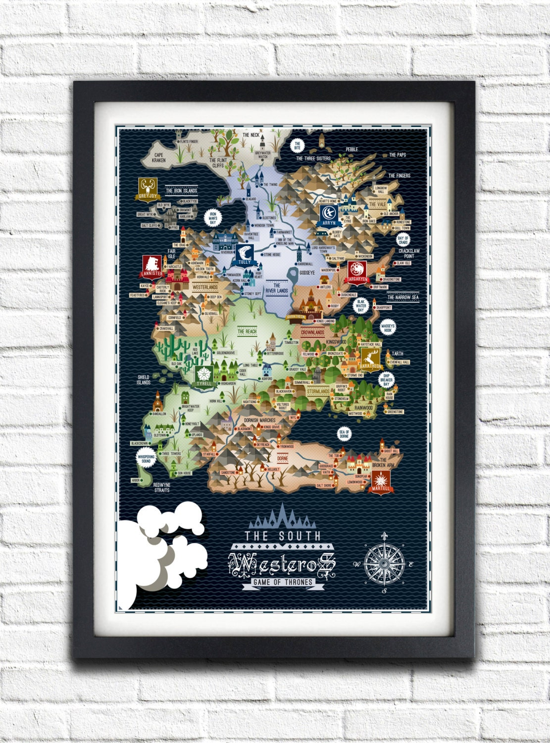 game of thrones map poster - photo #20
