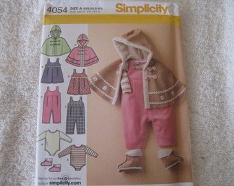 Simplicity Pattern for girls play outfits in sizes xs-L