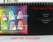 New Year SALE, Desk Calendar, 2013 calendar, Black