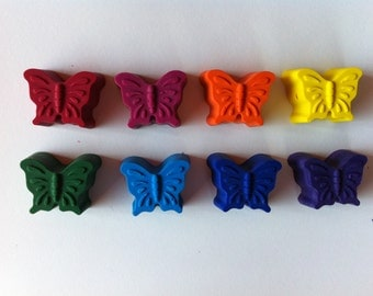 Set of 8  Butterfly Crayons