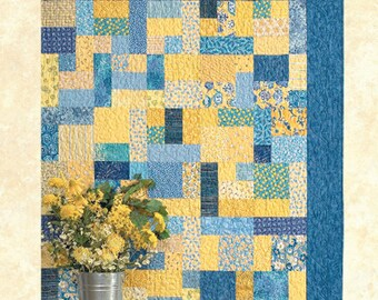 Yellow Brick Road Quilt Pattern, Atkinson Designs, Quilting, DIY, 6 sizes, Fat Quarter Friendly