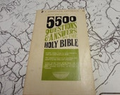 "Vintage Book ""5500 Questions and Answers on the Holy Bible"" 1971"