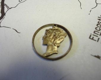 Vintage Mercury Dime Pendant