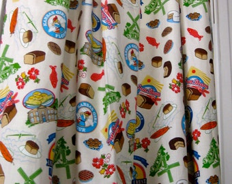 Vintage Pattern Kitchen Curtains -- Made to Order