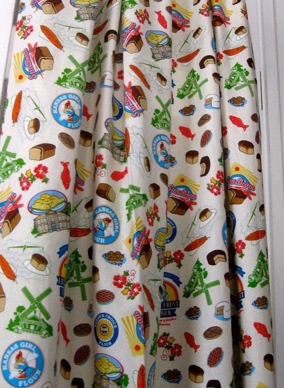 Vintage Pattern Kitchen Curtains Made To Order