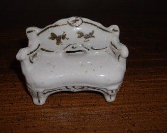 Miniature sofa, porcelain, made in post-war Japan
