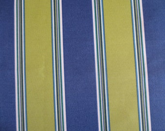OUTDOOR Pillow Cover in a Blue and Lime Stripe Print