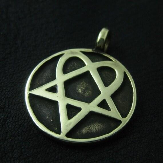 Bronze heartagram pendant like this item aloadofball Image collections