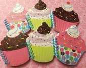 6 SUPER SWEET CUPCAKE Party Favors by Juste Jolie