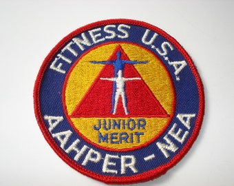 Vintage Fitness USA Junior Merit Badge Patch