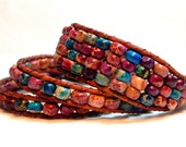 Beaded Leather Wrap Bracelets- One Wraps- Chan Luu Style
