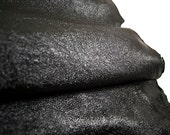 RESERVED to Valeria  - 2 x sparkly leather hide black lambskin 3.6 ft - light weight COD318