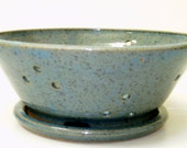 Footed Berry Bowl in my Ocean and Sand glaze