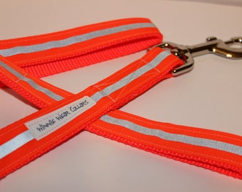 Orange Reflective Dog Leash