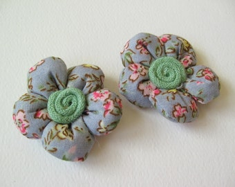 Padded cotton flowers