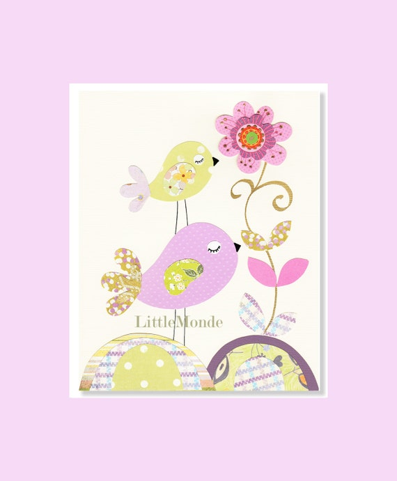 Baby girl nursery prints purple nursery print nursery art for Baby girl nursery paintings