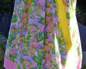 Pillowcase dress featuring Sweet Easter Bunnies and Eggs size 2T and 4T only :E008
