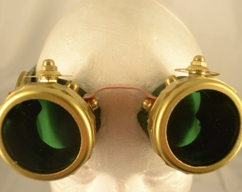 The Frogman (Handmade Steampunk Goggles)
