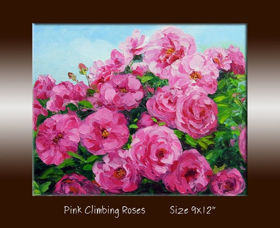 oil painting pink flower - photo #25