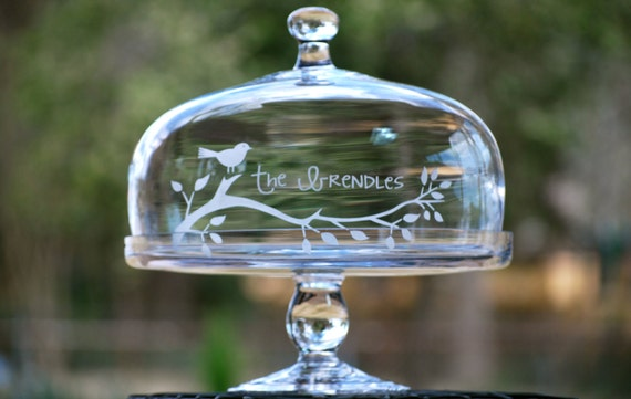 Personalized/Etched Cake Stand/Plate