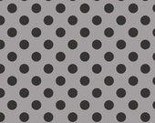 Riley Blake Designs Cotton Dots Tone on Tone in Black 1 Yard Cut