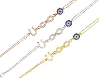 Lucky Infinity Bracelet-Yellow Gold