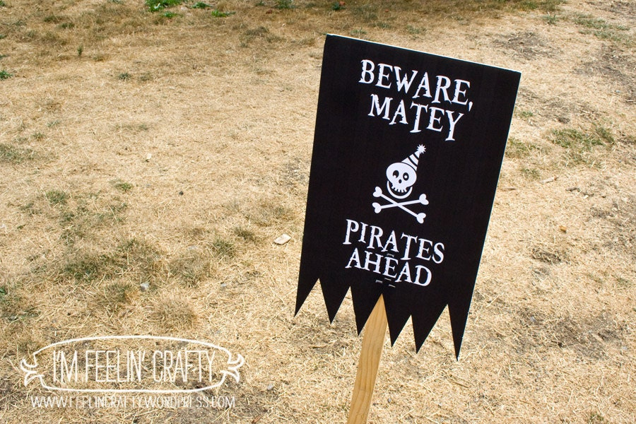 pirate party welcome sign printable