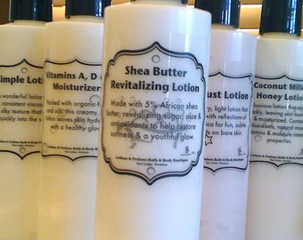 2oz Shea Butter Revitalizing Lotion Skin Care Moisturizer, Lotions and Potions