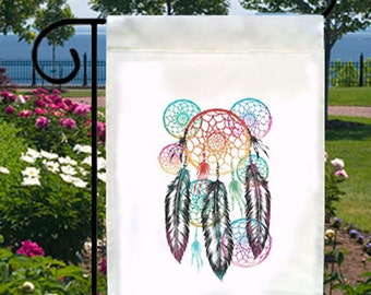 Colorful Native Dream Catcher New Small Garden Yard Flag