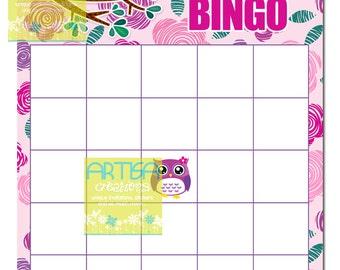 Pink Owl Baby Bingo - Owl Baby Girl Bingo - Pink and Purple Owls Baby Bingo -  Pink and Purple Owls Baby Shower