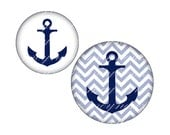 INSTANT DOWNLOAD-Anchor - Printable 16 mm  round for earrings, cufflinks, ring, magnet, pendant - Jpg File no. A234
