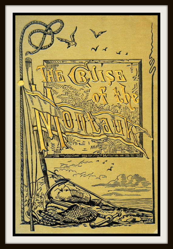 Book Cover Art Etsy ~ Items similar to vintage book cover quot the cruise of