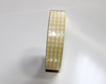 gingham tape-yellow tape-yellow cotton tape Qty 1