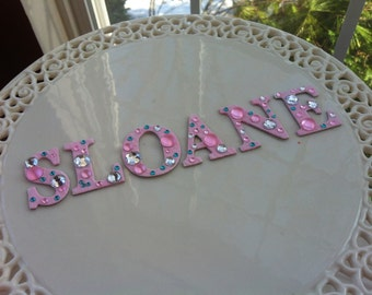 Cake Topper - Blinged Out Name Cake Topper - Glam Birthday Cake topper with rhinestones, bling & sparkles.