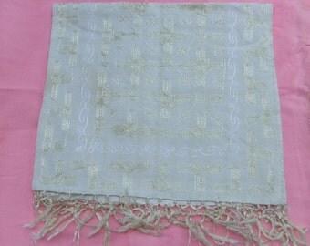 Vintage Silk-Cotton Table Cloth w/ Suzeni Work